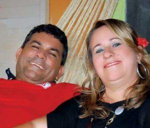 Manim Leal e a esposa Ivanice Leal