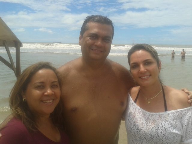 Uma amiga, Flávio Dino e Simone Limeira