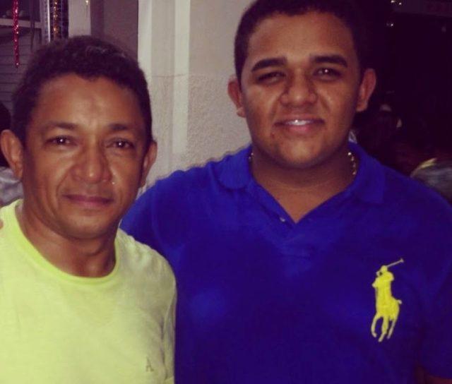 Luís Filho e o pai ex-prefeito Luis Amovelar