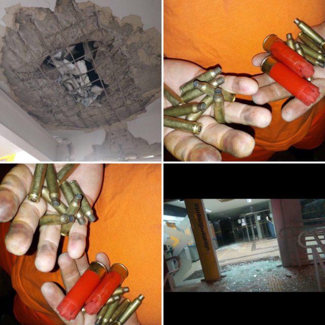 Bandidos tocam o terror em Zé Doca: fuzilam quartel, explodem banco e incendeiam carro