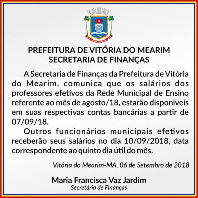 Prefeitura de Vitória do Mearim iniciou desde ontem pagamento da ... c90b2f7561448